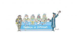 FÁBRICA DE DIPLOMAS DESEMPREGO
